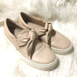 Zara Basic Collection Bow Sneakers Nude